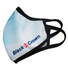 Black Crown Mask Valge